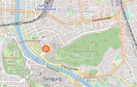 Karte Bergstr. 22, Salzburg